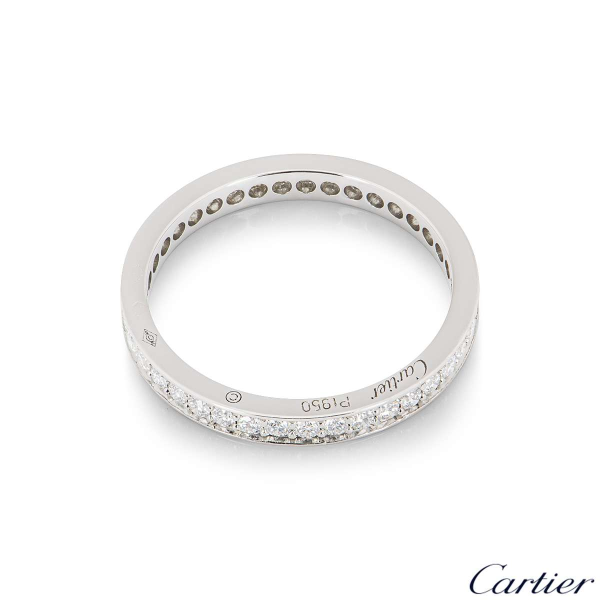Cartier Platinum Ballerine Diamond Wedding Ring